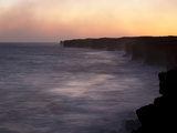 Dusk Illuminates Vog from Kilauea Volcano Photographic Print by Allison Maree Austin