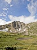 A Lone Backpacker Descends the Trail to Devil's Thumb Lake in the Indian Peaks Wilderness, Colorado Photographic Print by Andrew R. Slaton