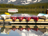 Glacier, Montana: the Shuttle Makes its Way to the Dock at Many Glacier Lodge Photographic Print by Brad Beck