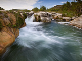 Dolan Falls Preserve, Texas:  Horizontal Landscape of the Dolan Falls During Sunset. Photographic Print by Ian Shive