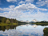 Cloud Reflection on Oxbow Bend Photographic Print by Mike Cavaroc