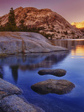 Tenaya Lake at Sunset in Yosemite National Park Photographic Print by Melissa Southern