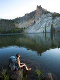 Hatchett Lake While on a Backpacking Trip in the White Cloud Mountains in Idaho. Photographic Print by Ben Herndon