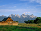 Old Morman Barn Grand Teton Sunrise Photographic Print by Howard Newcomb