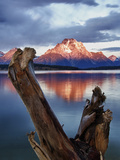 Mount Moran at Jackson Lake from Jackson Lake Dam in Grand Teton National Park, Wyoming Photographic Print by Melissa Southern
