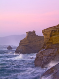 Pink Skies During Sunset at Cape Kiwanda in Pacific City, Oregon. Photographic Print by Patricia Davidson
