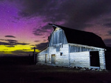 Northern Lights Above Moulton Barn Photographic Print by Mike Cavaroc