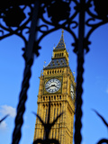 Big Ben Through Iron Gates, Houses of Parliament, Westminster, London, England Photographic Print by Simon Montgomery