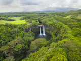 Wailua Falls on the Wailua River, Kauai, Hawaii. Photographic Print by Ethan Welty