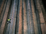 A Man Lead Climbing at Trout Creek in Central Oregon. Photographic Print by Bennett Barthelemy