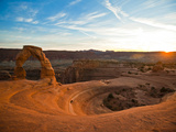 Delicate Arch in Arches National Park at Sunset. Photographic Print by Ben Herndon