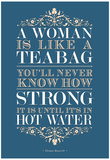 Strong Woman Eleanor Roosevelt Quote Poster Kunstdrucke