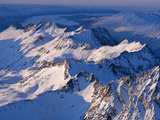 Morning Light on the Chigmit Mountains, a Subrange of the Aleutians. Photographic Print by Ian Shive