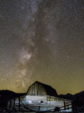 Moulton Barn and Milky Way Galaxy Photographic Print by Mike Cavaroc