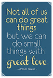 Great Love Mother Theresa Quote Poster Billeder