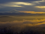 Mount Hood Sunrise from Portland Photographic Print by Al Stern
