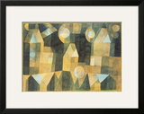 Three Houses and a Bridge; Drei Hauser an Der Brucke Framed Giclee Print by Paul Klee