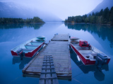 Dock and Boats on Chilco Lake. Bc, Canada Photographic Print by Justin Bailie