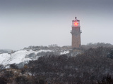 Gay Head Lighthouse in Snow Storm Photographic Print by James Shive