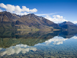 Mirror-Like Reflections on Lake Wakatipu Near Glenorchy in New Z Photographic Print by Sergio Ballivian