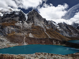 A Popular View of Lake Quesillacocha in the Cordillera Huayhuash in the Andes Mountains of Peru. Photographic Print by Patrick Brooks Brandenburg