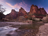 Court of the Patriarchs in Zion Canyon Photographic Print by Mike Cavaroc