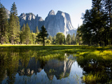 A Calm Reflection of the Cathedral Spires in Yosemite Valley in Yosemite, California Photographic Print by Sergio Ballivian