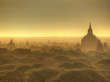 The Sun Rises across the 2000+ Temples and Pagodas at Bagan in the Country of Burma (Myanmar) Photographic Print by Kyle Hammons