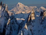 Lake Clark National Park, Ak: Aerial Views of the Aleutian Mountain Range and Chigmit Mountains Photographic Print by Ian Shive