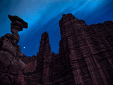 Fisher Towers at Night Photographic Print by Dan Holz