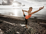 Dance Pose on the Beach of Lincoln Park, West Seattle, Washington Photographic Print by Dan Holz
