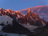Golden Mountain Peaks Light Up with First Light Upon Cerro Torre in Patagonia, Argentina Photographic Print by Patrick Brooks Brandenburg