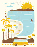 Goin' to the Beach Serigraph by  Hero Design