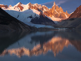 Cerro Torre and Reflect in the Lake Below in Patagonia, Argentina Photographic Print by Patrick Brooks Brandenburg