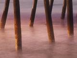 Bogie Inlet Fishing Pier in Emerald Isle, North Carolina at Sunrise Photographic Print by Melissa Southern