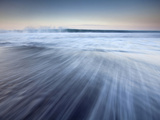 Island of Hawaii, Hawaii: Long Exposure of Waves on Black Sand Beach in Waipio Valley. Photographic Print by Ian Shive
