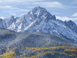Mount Sneffels after an Early Autumn Snowfall, Near Telluride, Co Photographic Print by Howard Newcomb