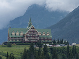 The Prince of Wales Hotel Sit Above Waterton Lake, in Waterton Lakes National Park, Canada. Photographic Print by Howard Newcomb