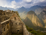View of Machu Picchu - the Lost City of the Incas - Located in T Photographic Print by Sergio Ballivian