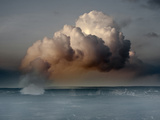 Volcanoes National Park, Hawaii: a Giant Sulfur Dioxide Gas Plume from Kilauea Volcano Photographic Print by Ian Shive