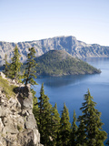 Scenic Image of Crater Lake National Park, Or. Photographic Print by Justin Bailie
