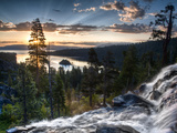 Sunrise Reflecting Off the Waters of Emerald Bay and Eagle Falls, South Lake Tahoe, Ca Fotografisk tryk af Brad Beck