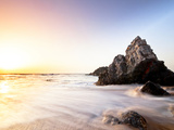 Sun Sets over the Rocks at the Local Beach of Praia Do Adraga. Photographic Print by Joseph Abelino Roybal