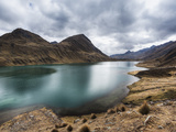 Turquoise Lake Carhuacocha in the Cordillera Huayhuash in the Andes Mountains of Peru Photographic Print by Patrick Brooks Brandenburg