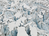 Detail of the Heavily Crevassed Surface of Columbia Glacier, Alaska. Photographic Print by Ethan Welty