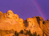 Rainbow over Mount Rushmore Photographic Print by Mike Cavaroc