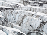Detail of Ice Crevasses at Columbia Glacier, Alaska. Photographic Print by Ethan Welty