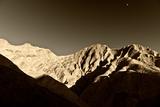 Zonsondergang bij Golden Canyon, Furnace Creek, Death Valley Fotoprint van Philippe Hugonnard