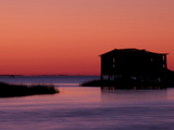 Fishing Shack at Twilight Near Bodie Island Lighthouse on the Outer Banks of North Carolina Photographic Print by Melissa Southern
