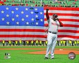 David Ortiz addresses the crowd on April 20, 2013 at Fenway Park Photo